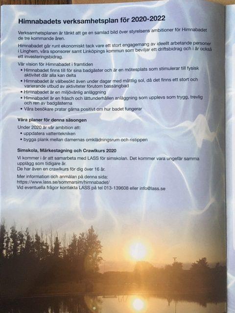 Sid 6, Himnabadets verksamhetsplan för 2020-2022